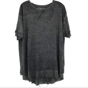 Free People Cloud Nine T Shirt Black Short Sleeve
